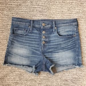 Mossimo Denim High Rise Button Fly Stretch Shorts